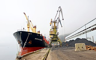 Port of Magadan - View of the port