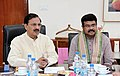 Mahesh Sharma alongwith the Minister of State for Petroleum and Natural Gas (Independent Charge).jpg