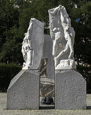 Alfred Hrdlicka - Mahnmal gegen Krieg und Faschismus, Vienna, Albertinaplatz