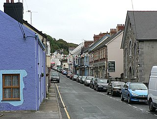 Goodwick town in Pembrokeshire, United Kindom