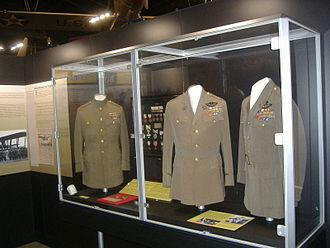 National Museum of the United States Air Force - Major General Billy Mitchell's uniforms on display