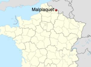 Battle of Malplaquet - Image: Malplaquet map