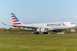 Un Airbus A330 d'American Airlines.