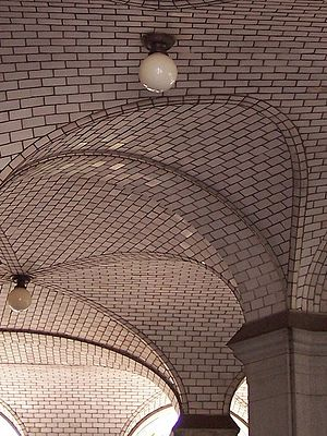 Manhattan Municipal Building - Guastavino ceiling tiles on the south arcade