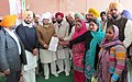 Manish Tewari presenting a cheque of Rs. 3 Lac from MPLADS fund for Development work to Agwar Lopon Kalan Kothe Hari Singh Dharmshala, Jagraon, Distt. Ludhiana. The Ex. Minister and Halka Incharge.jpg