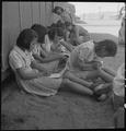Manzanar Relocation Center, Manzanar, California. An elementary school with voluntary attendance ha . . . - NARA - 537961.tif