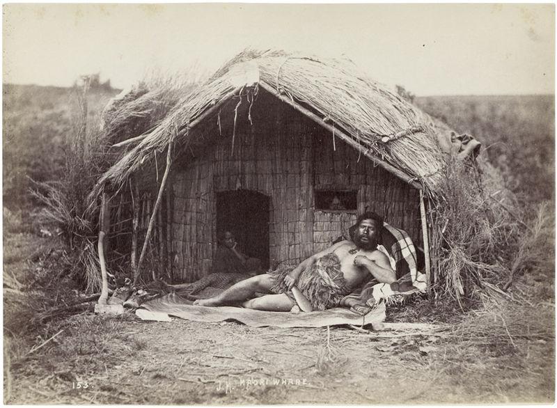File:Maori Chief Tahau in whare mid1870s.jpg