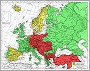 Map 1914 WWI Alliances