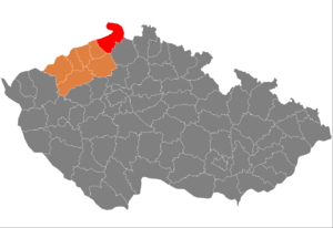 District location in the Central Bohemian Region within the Czech Republic
