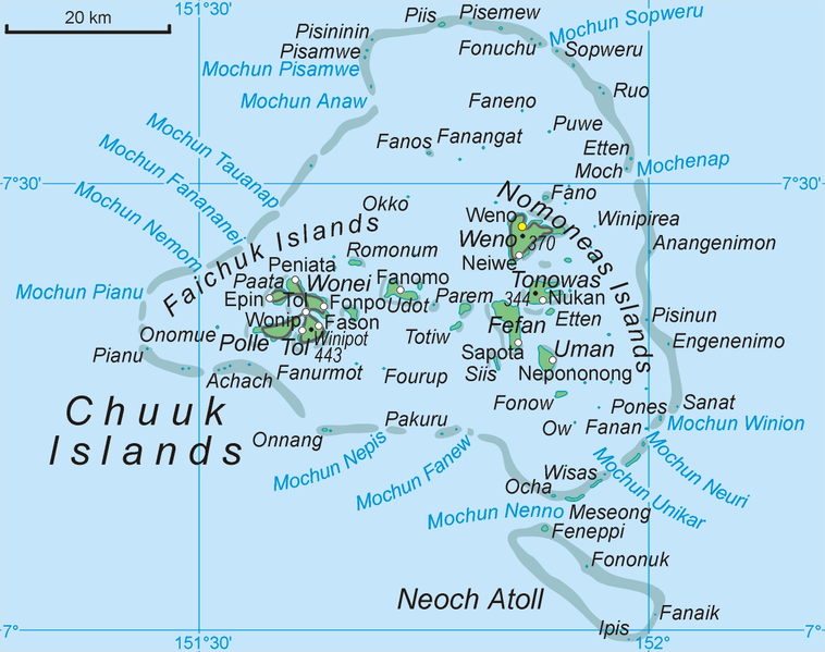 An geographical overview of truk island