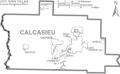 Map of Calcasieu Parish Louisiana With Municipal Labels.PNG