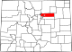 Map of Colorado highlighting Adams County.svg
