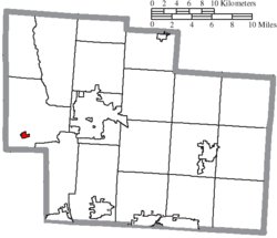 Location of Ostrander in Delaware County