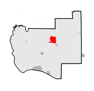 Jerseyville, Illinois - Location of Jerseyville within Jersey County