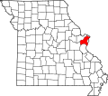 Map of Missouri highlighting Saint Louis County.svg