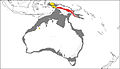 Map of the Greater Australian continent with distribution of the three Zaglossus species - ZooKeys-255-103-g001.jpeg
