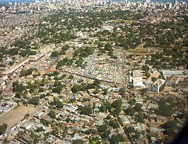 Luchtfoto van de markt van Xipamanine