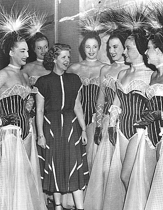 Le Lido - Margaret with the Bluebell Girls in 1948