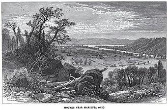 Mound Cemetery (Marietta, Ohio) - Image: Marietta Mounds Old Drawing
