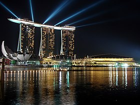 Marina Bay Sands during 2010 Youth Olympics opening.jpg