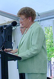 Marjorie Jackson-Nelson giving a speech in April 2007