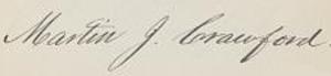 Martin Jenkins Crawford - Image: Martin J. Crawford signature