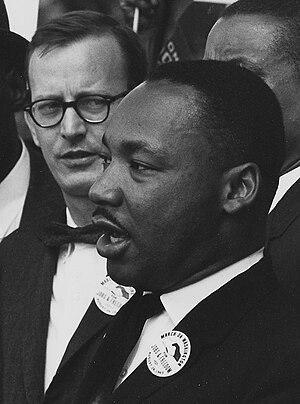 Mathew Ahmann - Ahmann on August 28, 1963, behind Martin Luther King, Jr.