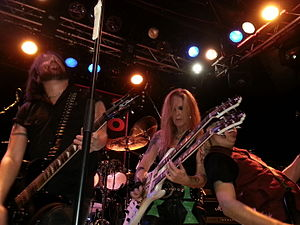 Marty O'Brien - Marty O'Brien performing with Patrick Kennison of American rock band Heaven Below and Lita Ford