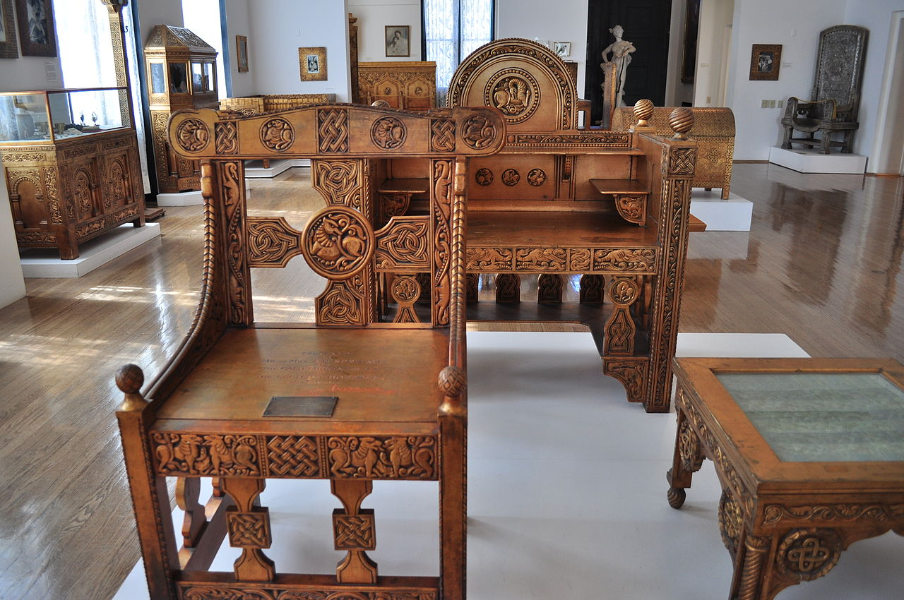 File Maryhill Museum Gilded Wood Furniture From Cotroceni Palace Wikimedia Commons