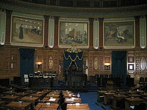 Albert Herter - House of Representatives murals (1942), Massachusetts State House, Boston.