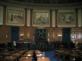 Albert Herter - House of Representatives murals (1942), Massachusetts State House, Boston.