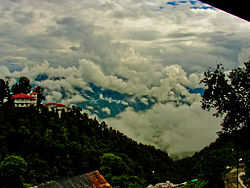 View of Mussoorie from the top of Gun Hill