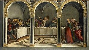 Agnolo di Domenico del Mazziere - Lucretia announces her suicide by Agnolo di Domenico del Mazziere,  Galerie Giovanni Sarti, between 1505-1510