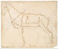 Measured Drawing of a Horse Facing Left (recto). MET DT620.jpg