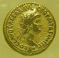Medio bronzo dorato di nerone, 54-68 dc.JPG