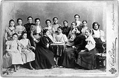 Melanie Klein 4th from right, aged about 13 Wellcome L0017664.jpg