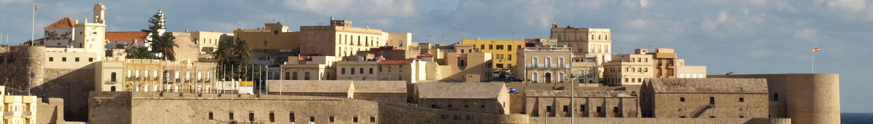 A view from the marina of the walled city of Melilla