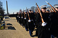 Members of the U.S. Marine Corps honor guard move to their position for the presidential inauguration parade in Washington, D.C 130121-A-SV709-244.jpg