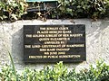 Memorial plaque beneath the Jubilee Clock in Bishop's Waltham town centre - geograph.org.uk - 1514424.jpg