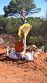 Memorial to Danny Harris, Wilga Road near Sunrise Dam, Laverton 01.jpg