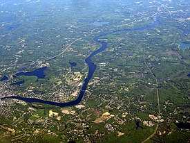 The Merrimack River in Haverhill, Massachusetts and Newburyport, Massachusetts