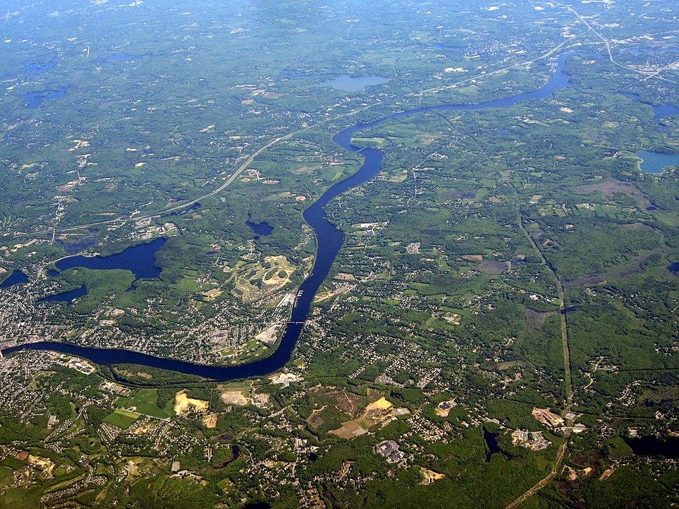 The Merrimack River in Haverhill, Massachusetts and Newburyport, Massachusetts