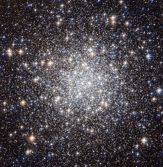Lyra - Messier 56 is composed of a large number of stars, tightly bound to each other by gravity. In Lyra are the objects M56, M57, and Kuiper 90. M56 is a rather loose globular cluster at a distance of approximately 32,900 light-years, with a diameter of about 85 light-years. Its apparent brightness is 8.3m.