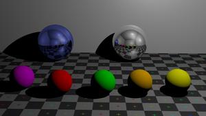 image of Metallic balls