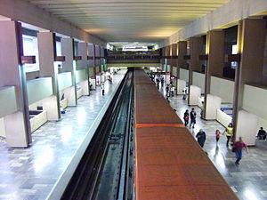 Metro Tacubaya - Line 9 at Tacubaya.