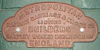 Metro-Cammell - Image: Metropolitan Railway Carriage & Wagon Co