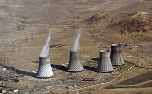 Metsamor Nuclear Power Plant - Cooling towers of Metsamor