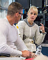 Michael Hopkins and Kathleen Rubins during a spacewalk training session in the NBL.jpg