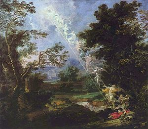 Dream - Jacob's dream of a ladder of angels, c. 1690, by Michael Willmann