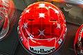 Michael Schumacher 2000 Japanese GP helmet top 2019 Michael Schumacher Private Collection.jpg